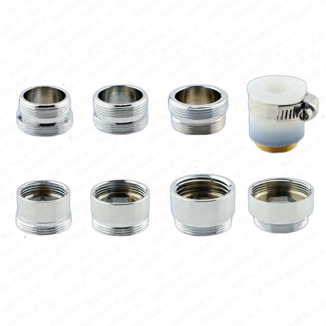 G1/2 Faucet Connector Adapter Universal Screw Adapter Bathroom Adapter With  Water Saving Brass Adapter