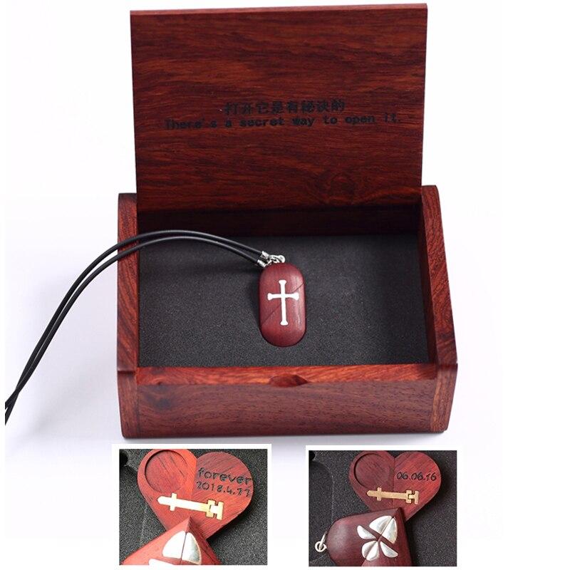 Fait à la main personnaliser bois croix collier pendentif peut changer coeur médaillon forme papillon collier bijoux femmes hommes cadeau