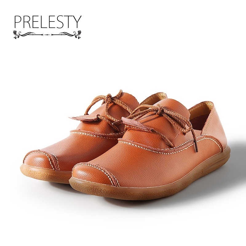Prelesty 2018 Luxury Brand Natural Leather Boat Shoes Cow Split Leather Men Flat Shoes Moccasins Men Loafers Driving Shoes Soft cbjsho brand men shoes 2017 new genuine leather moccasins comfortable men loafers luxury men s flats men casual shoes