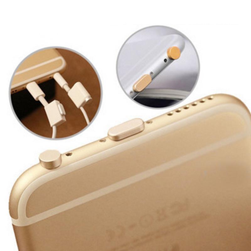новый металлический сплав пыле разъем для iPhone 5с набор для ЮВ 5 6 6s 6 плюс аксессуары для наушников штекер анти Dust разъем пыли USB разъем