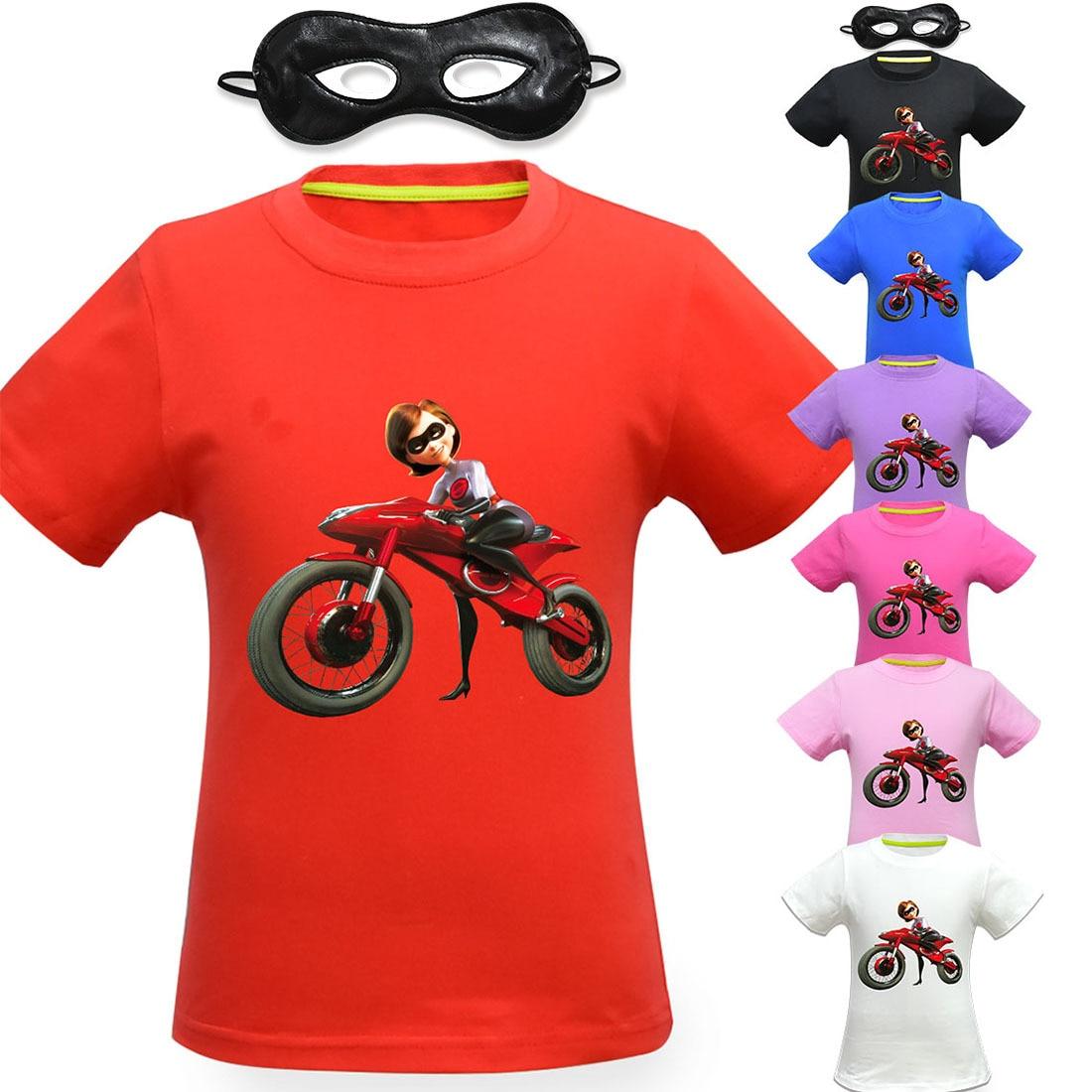 Kids The Incredibles 2 Hot Summer T-shirt Boy's Girl's Cartoon 3D T shirt Children's Top Tee Clothing Halloween Cosplay Costume