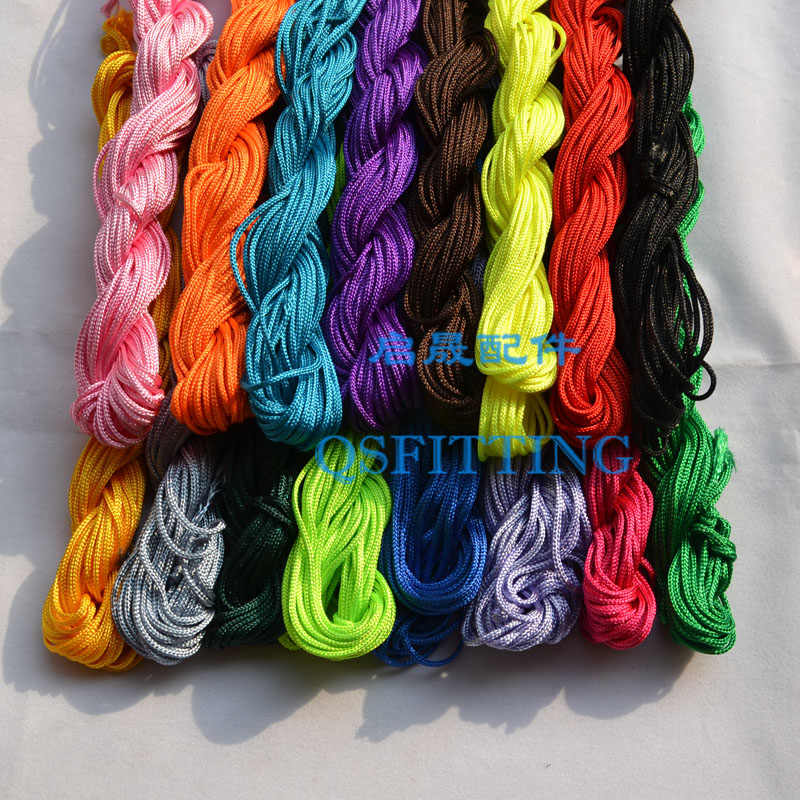 16 Colors 1Roll 22m Nylon Cord Thread Chinese Knot Macrame Rattail Bracelet Braided String DIY Tassels