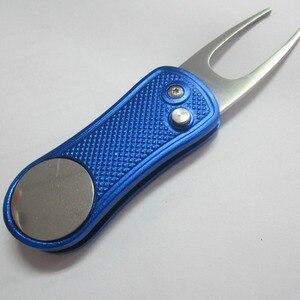 Image 3 - Với smail mặt bóng cột mốc có thể thu vào cao cấp tự động Switchblade kim loại hợp kim nhôm Golf sân Xanh sửa chữa dĩa Bộ