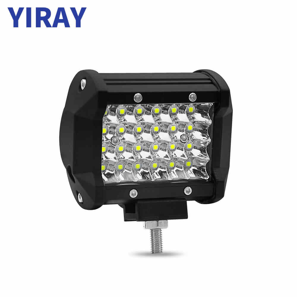 YIRAY 4 inch 72W 6000k 4 LED Strip Light LED Work Light Bar Light for Motorcycle Tractor Boat Off Road 4WD 4x4 Truck SUV ATV