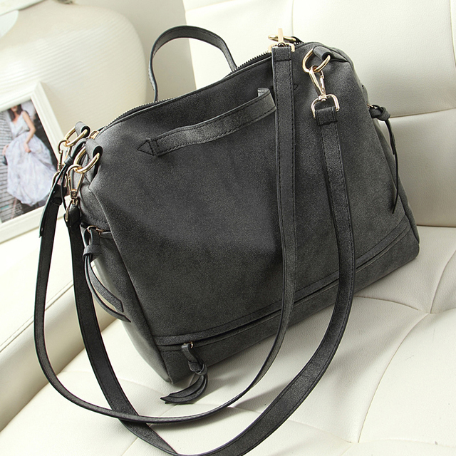 vintage casual nubuck leather handbags upgraded new hotsale women motorcycle tote ladies purse clutches shoulder shopping bags