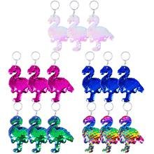 METABLE 15 Pack Flip Sequin Key Chain Flamingo Shape Party Favors Key Ring Hanging Key Chain Decoration for Party Supplies festive christmas ornament hearts shape bead chain 260cm 2 chain pack