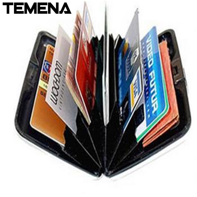 Temena  1 PC 2016 new arrival men BUSINESS CARD HOLDER women bank card box porte carte 4 colors BCH209 2017 new top brand pu thin business id credit card holder wallets pocket case bank credit card package case card box porte carte