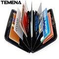 Temena  1 PC 2016 new arrival men BUSINESS CARD HOLDER women bank card box porte carte 4 colors BCH209