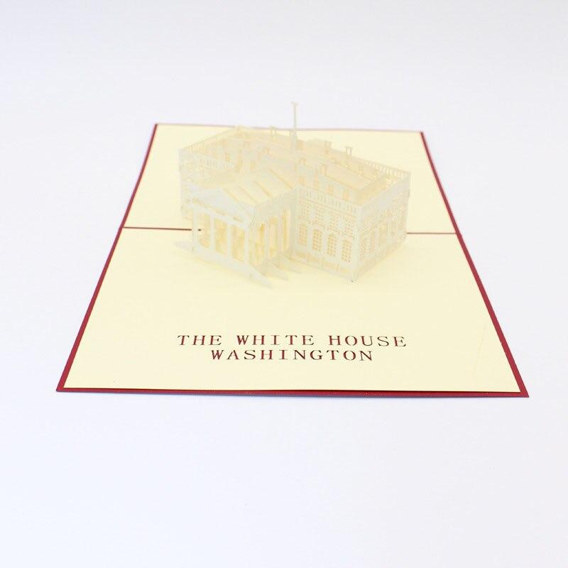 3D Laser Cut Handmade The White House Washington Paper Invitation Greeting Cards PostCard Business Kids Creative Gift Souvenir