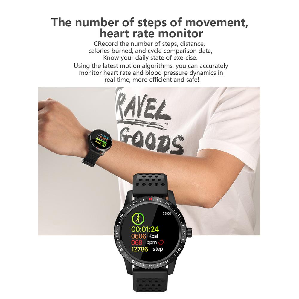 T1 Smartwatch IP67 Waterproof Wearable Device Heart Rate Monitor Color Display Smart Watch For Android IO 30 Days Standby