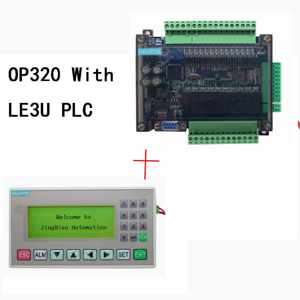 OP320-A MD204L 4.3 inch Text Display+ FX3U series PLC industrial control board with DB9 Communication line op320 a md204l 4 3 inch text display hmi support 232 485 communication ports new offer op320 a s