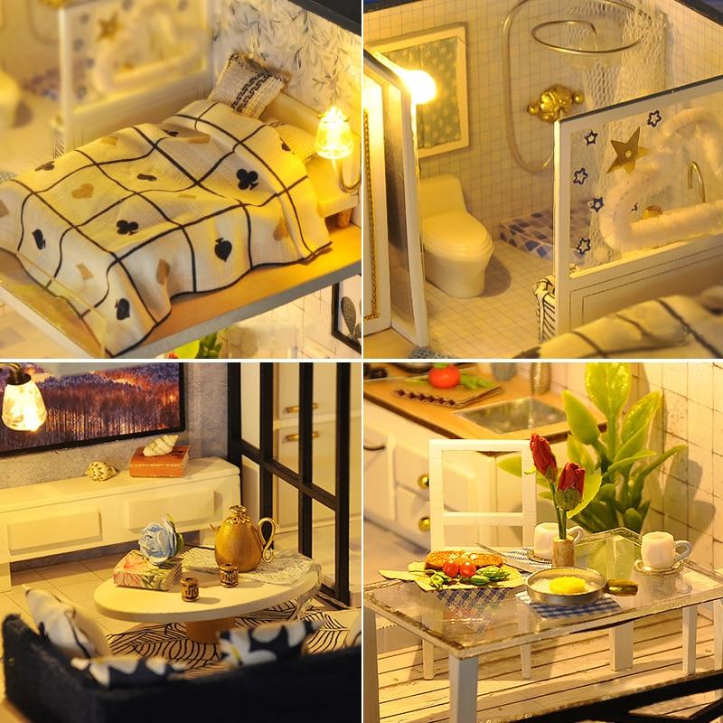 casa de bonecas luz para bonecas brinquedos artesanais criancas 04