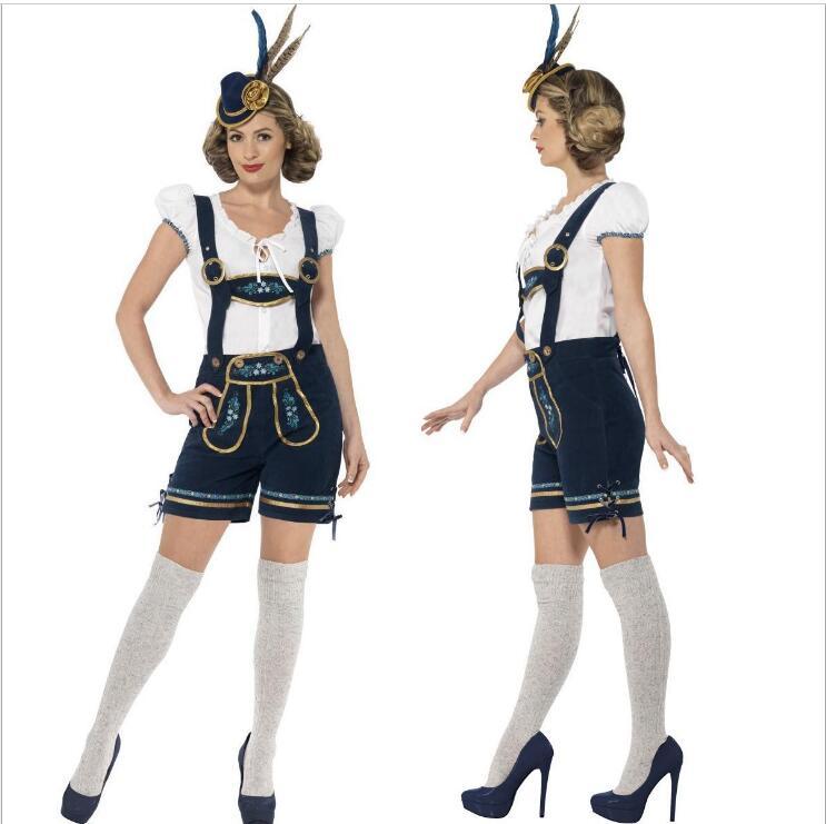 più amato e1887 b143e US $22.87 12% di SCONTO|Spedizione Gratuita OKTOBERFEST Vestito Bavarese  Costume Adulto Plus Size Tedesco Beer Girl Carnevale Festa in Maschera ...