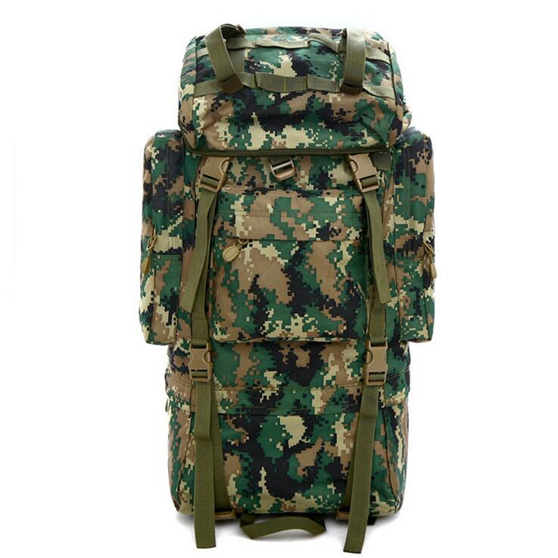 Men's Waterproof Large Capacity Bags High-quality Nylon Camouflage Backpacks Woman Hike Trek Travel Student Backpack 70L Free Sh цена и фото