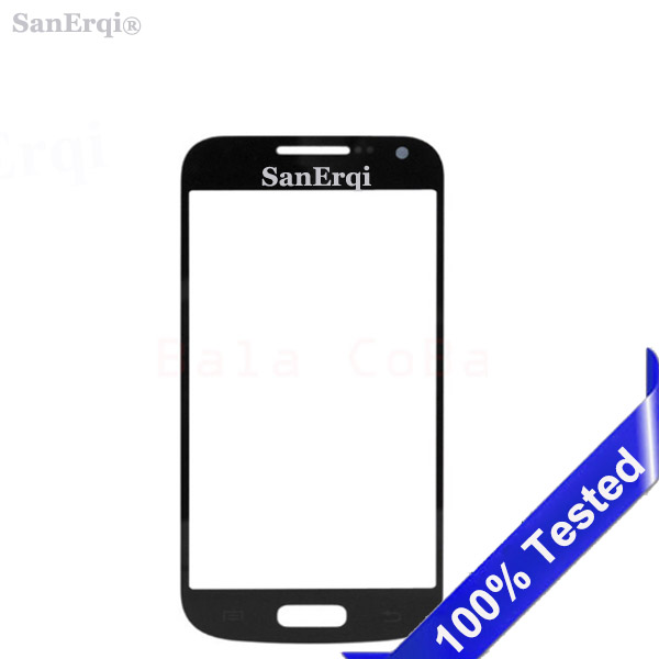SanErqi 100pcs Front Outer Glass Replacement For Samsung Galaxy S4 i9505 I9500 / S4 mini I9190 i9192 i9195 LCD Touch Screen Lens image
