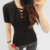 95% T-shirt de Algodão Camisa Da Marca T Mulheres 2017 Summer Fashion Preto feminino Camiseta de Manga Curta Slim Tamanho Grande Tops Camiseta Femme