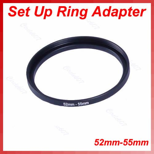 52mm-55mm Step Up Metal Lens Filter Ring 52-55 mm 52 to 55 Stepping Adapter