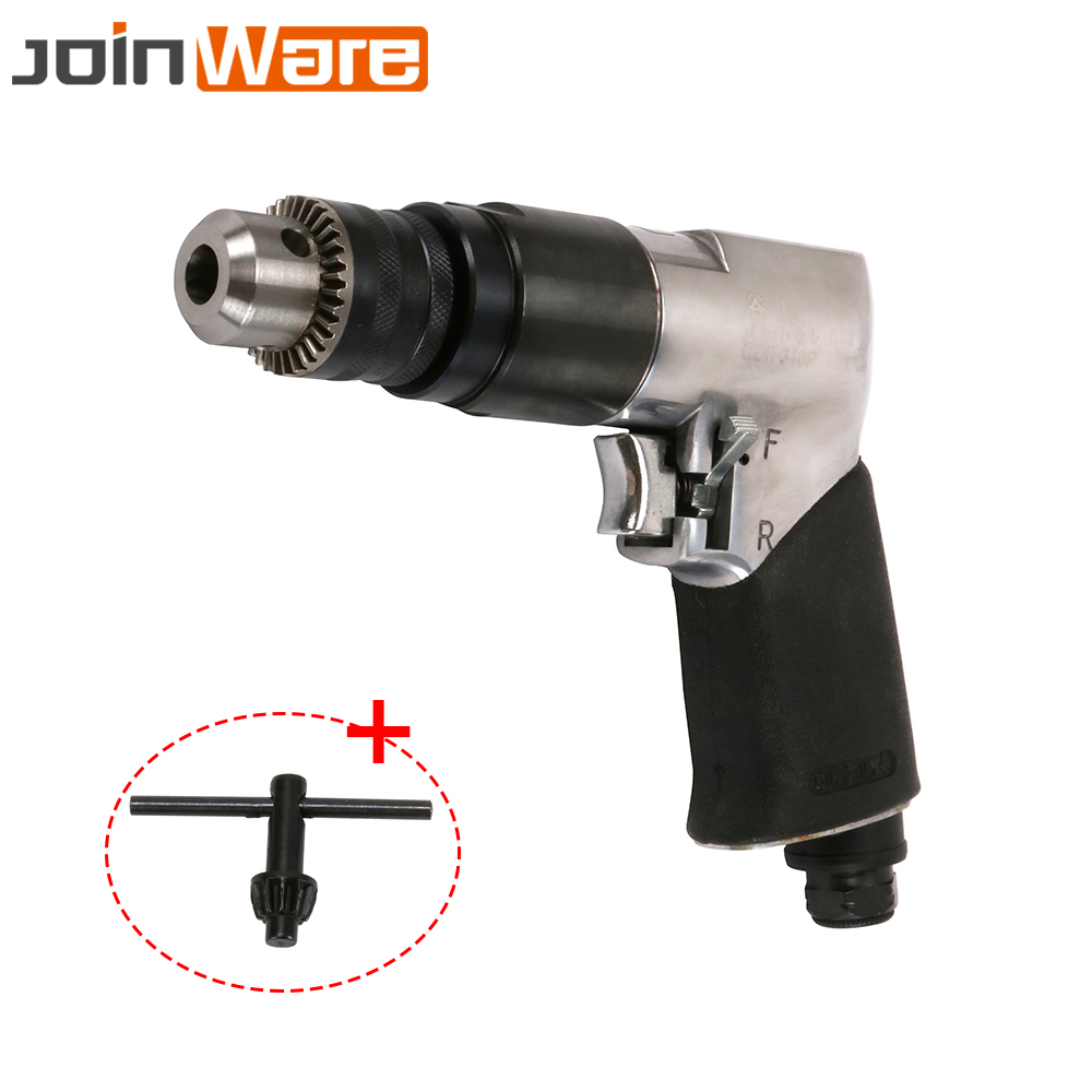 цена на 3/8 Air Drill Reversible Pneumatic Drill 1800RPM High-speed Pistol Type For Hole Drilling Power Tool