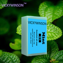 VICKYWINSON essential oil soap mint jasmine bath antibiotic moisturizing sulfur acne Deep Nourish Hair XZ1