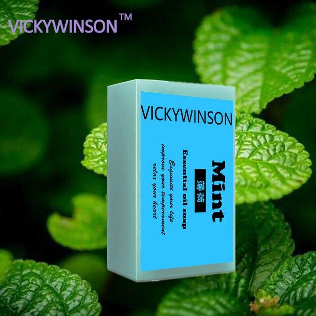 VICKYWINSON essential oil soap mint soap jasmine bath soap antibiotic moisturizing sulfur soap acne Deep Nourish Hair XZ1