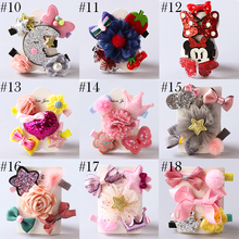 5 Pcs/set Korean Girls hair accessories lovely princess crown hair clip flower hairpins Kids hair ornaments headdress barrettes
