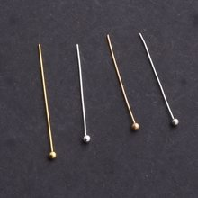 Beadia 1500pcs Ouro/Prata/Ródio/KC Banhado A Ouro Bola de Cabeça Pinos 0.5x25mm Jóias achados