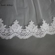 White Wedding Accessories Lace 5M/500cm Cathedral Length White Bride Veil Lace Mantilla