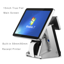 Touch Screen POS 15inch Pos All In One System Built in 80mm