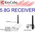 Menor Portátil 5.8 GHz Mini Wireless A/V Receptor NTSC & PAL Para FPV CCTV Segurança Frete Grátis