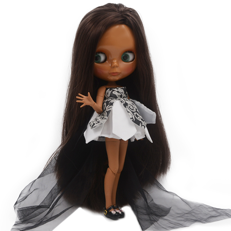 Nude Doll Similar To Blyth BJD doll, Customized Dolls Can Change Makeup and Dress by DIY 12 Inch Ball Jointed Dolls for Girl 4 sophisticated long black heat resistant synthetic nobby fluffy curly lace front wig for women