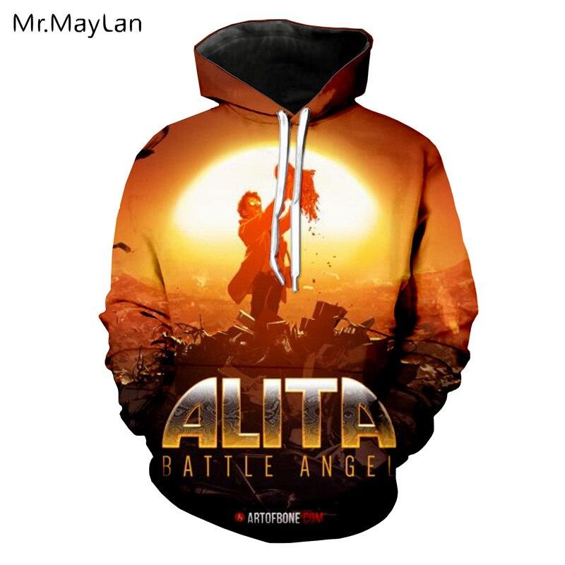 Movie Alita Battle Angel 3D Print Jackets Women men Unisex Couples Gothic Pullovers Hood Sweatshirts Girls Cool Tracksuits 5XL in Hoodies amp Sweatshirts from Women 39 s Clothing