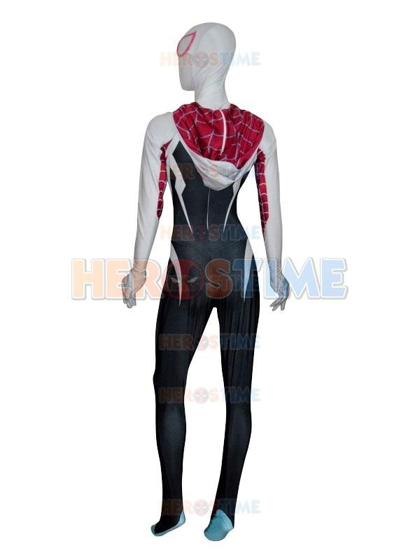 Yeni 3D Çap Spider Gwen Stacy Costume Spandex Lycra Spiderman - Karnaval kostyumlar - Fotoqrafiya 6