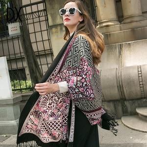 Image 5 - Fashion Scarves and Shawls Large Scarf Luxury Brand Wool Wrap Muslim Hijab Poncho Plaid Blanket Scarf India Bandana Face Shield
