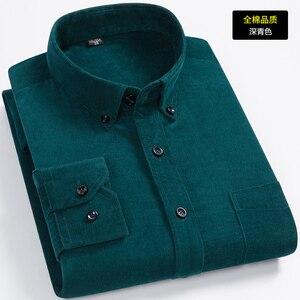 Image 4 - New Arrival moda Super duża czysta bawełna sztruks jesień mężczyźni z długim rękawem Casual luźne duże koszule na co dzień Plus rozmiar M 7XL 8XL