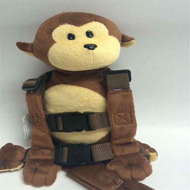 Приятель для того, чтобы держать 2-в-1 Детские накладной Рюкзак Детские поводья для От 1 до 3 лет вокруг - Цвет: Soft Monkey
