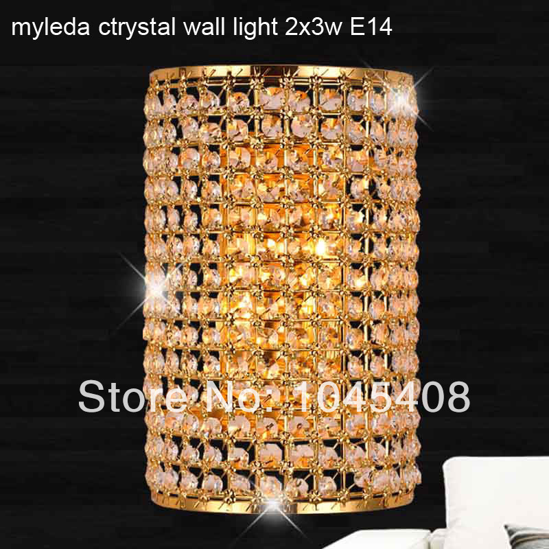E14 Modern crystal wall lamp modern Crystal Sconce wall Lights living room wall lamp lamps k9 crystal Lighting