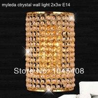 E14 Modern crystal wall lamp modern Crystal Sconce wall Lights living room wall lamp lamps k9 crystal Lighting