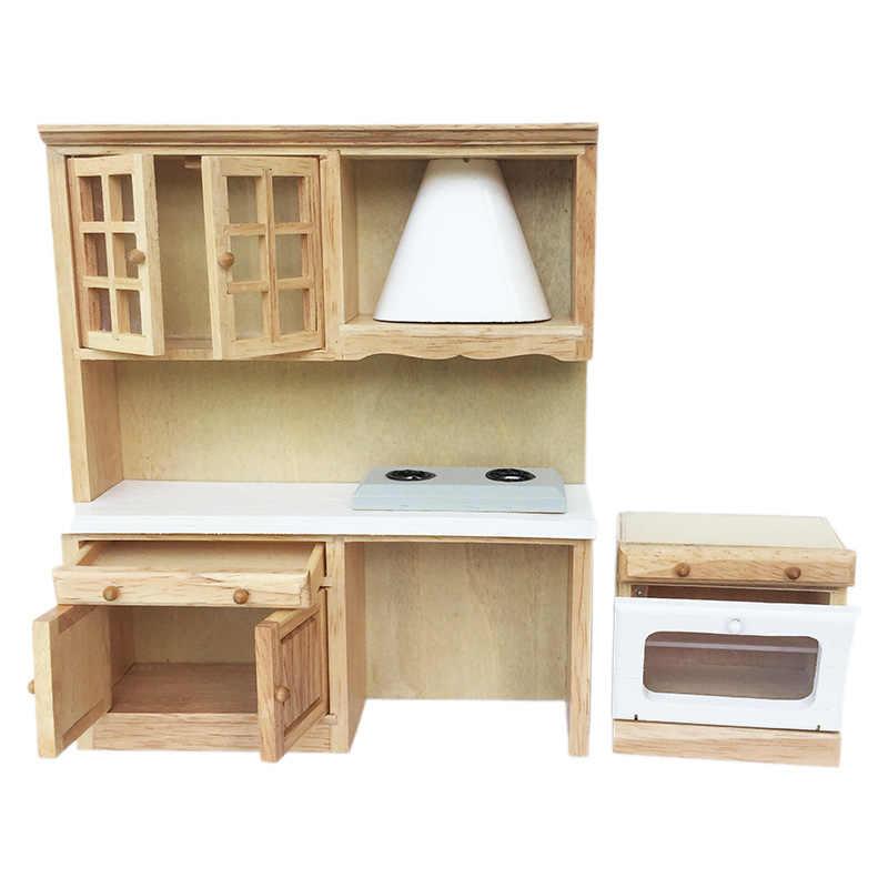 1 12 Casa De Munecas Miniatura Muebles Cocina Comedor Armario Con