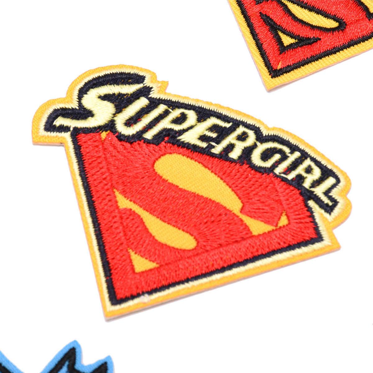 1 Pcs איש ברזל ספיידרמן באטמן סופרמן דברים ברזל על תיקוני בגדי רקמת בגדים חמוד DIY נצנצים Applique תג