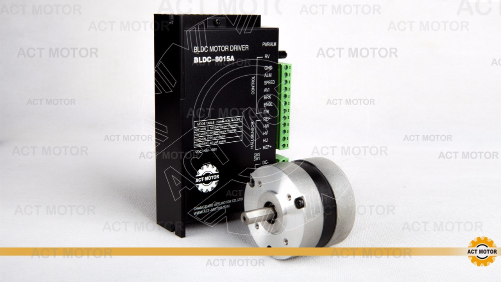 ACT Motor 1PC Nema23 Brushless DC Motor 57BL02 24V 34W 3000RPM 3Phase Single Shaft +1PC Driver BLDC-8015A 50V CNC US DE JP Free bldc motor driver controller 120w 12v 30v dc brushless motor driver bld 120a