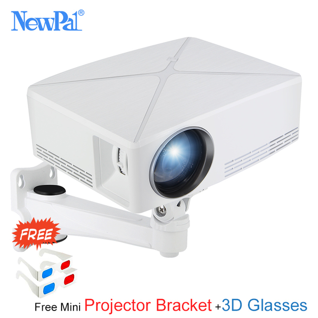 Best Offers Newpal C80 UP Mini Projector 2200Lumens Projector 1280x720P Home Cinema (Android WIFI Option) 720P HD Beamer LED Proyector c80