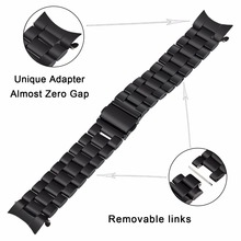 купить 22mm Stainless Steel Watch Band Quick Release Strap for Samsung Gear S3 Classic Frontier Wrist Belt Link Bracelet Black Silver по цене 846.05 рублей