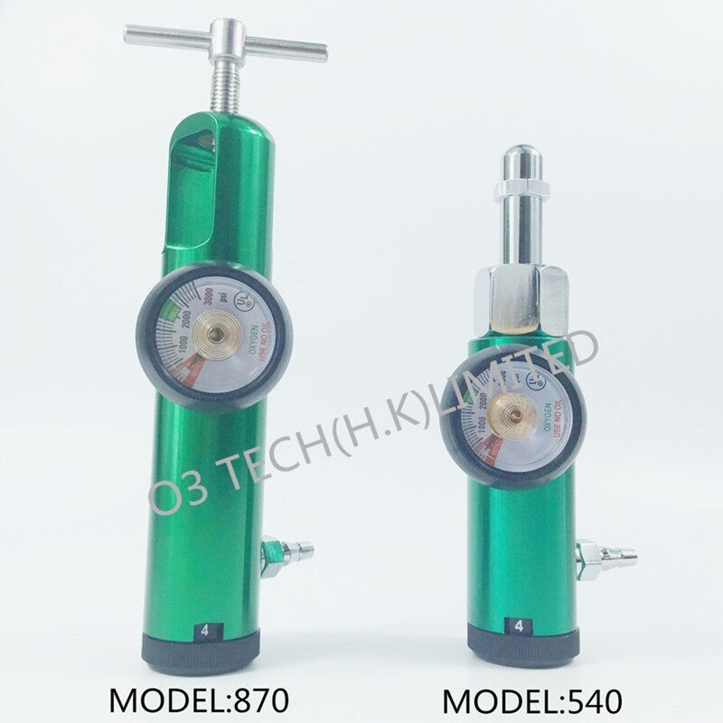Oxygen tank regulator Medical Oxygen cylinder flowmeter CGA connection CGA540 or CGA870 brass sleeve 0-4LPM medical oxygen regulator pressure flowmeters hot sales