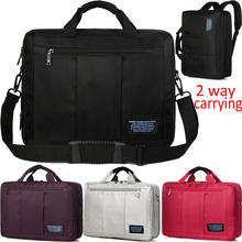 Brinch 2 Way Carrying 15 15.6 Inch Solid Thicken Waterproof Nylon Laptop Notebook Bags Case Backpack Messenger for Men Women