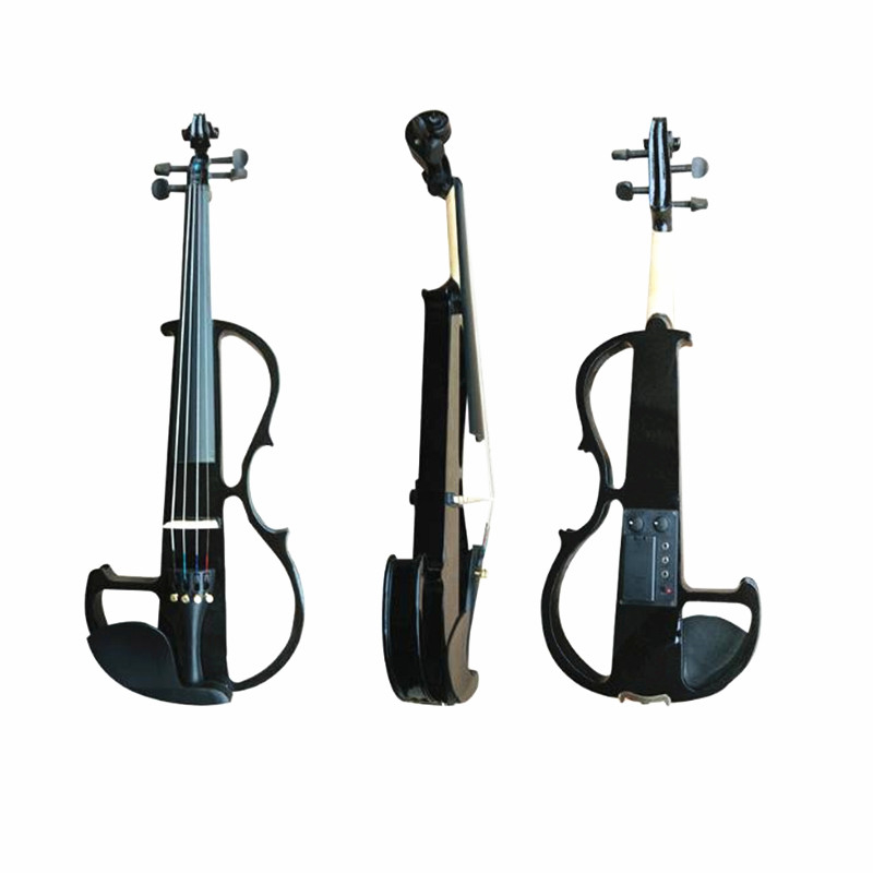 Full Size 4 4 Electric Acoustic Musical Stringed Instruments Maple Faddle Electric Violin with Violin Case