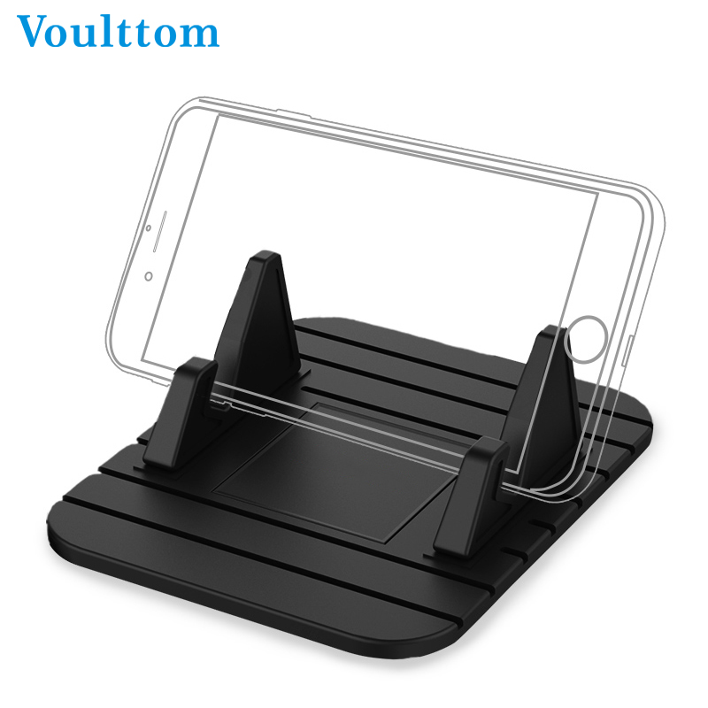 Voulttom Car Dashboard Non slip Rubber Mat Stand Mount Universal Phone Holder For iPhone Samsung Xiaomi Huawei GPS in Phone Holders Stands from Cellphones Telecommunications