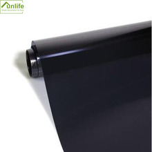 90*200cm black One Way Anti UV Static Cling Window Film Removable Heat Control Privacy Glass Tint for Home and Office Windows