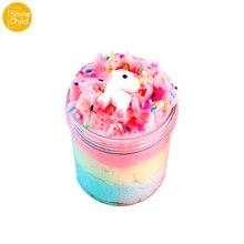 Unicornio Slime DIY Fluffy Unicorn Clay 3 Colors Crystal Putty Fragrance Floam Silk Slime Antistress Mud Toys Kids Adults 150ml
