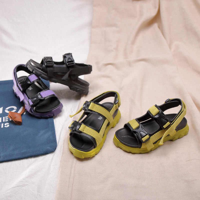 Mùa hè 2019 New Kids Bãi Biển Dép Bé Gái Dép Giản Dị Bé Trai Màu Đen Giày Thể Thao Trẻ Em Dép Trẻ Mới Biết Đi Thời Trang Thương Hiệu Căn Hộ