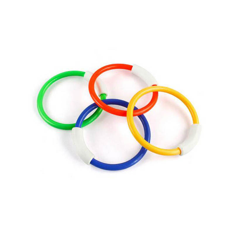 4pcs Swimming Rings Underwater Swimming Pool Diving Accessories Summer Beach Throwing Toys Kid Diving Float Ring Water Toys  0.2
